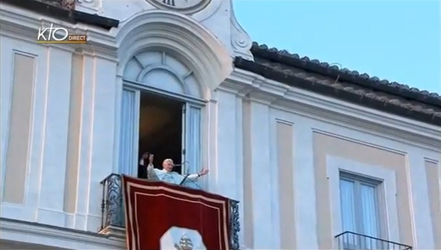 Pope Benedict XVI bids farewell from the balcony of Castelgandolfo - will we ever see him again?